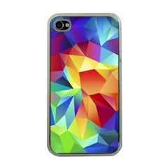 Triangles Space Rainbow Color Apple Iphone 4 Case (clear) by Mariart