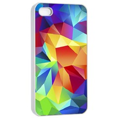 Triangles Space Rainbow Color Apple Iphone 4/4s Seamless Case (white) by Mariart