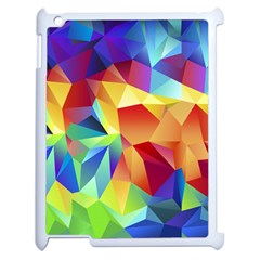 Triangles Space Rainbow Color Apple Ipad 2 Case (white) by Mariart