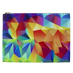Triangles Space Rainbow Color Cosmetic Bag (xxl)  by Mariart