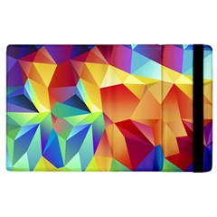 Triangles Space Rainbow Color Apple Ipad 2 Flip Case by Mariart