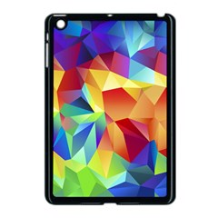 Triangles Space Rainbow Color Apple Ipad Mini Case (black) by Mariart