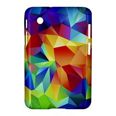Triangles Space Rainbow Color Samsung Galaxy Tab 2 (7 ) P3100 Hardshell Case  by Mariart