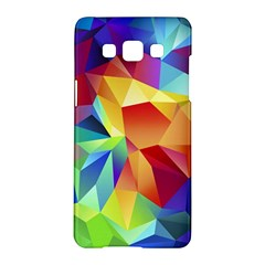 Triangles Space Rainbow Color Samsung Galaxy A5 Hardshell Case  by Mariart