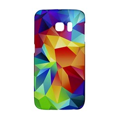 Triangles Space Rainbow Color Galaxy S6 Edge by Mariart