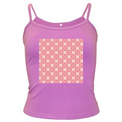 Sunflower Star White Pink Chevron Wave Polka Dark Spaghetti Tank