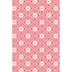 Sunflower Star White Pink Chevron Wave Polka 5 5  X 8 5  Notebooks by Mariart