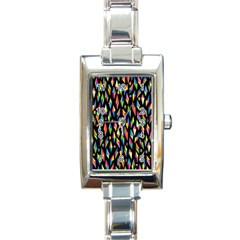 Skulls Bone Face Mask Triangle Rainbow Color Rectangle Italian Charm Watch by Mariart