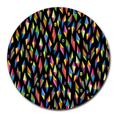 Skulls Bone Face Mask Triangle Rainbow Color Round Mousepads by Mariart