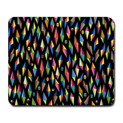 Skulls Bone Face Mask Triangle Rainbow Color Large Mousepads by Mariart