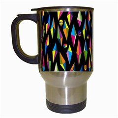 Skulls Bone Face Mask Triangle Rainbow Color Travel Mugs (white) by Mariart