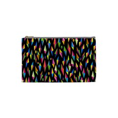 Skulls Bone Face Mask Triangle Rainbow Color Cosmetic Bag (small)  by Mariart