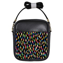 Skulls Bone Face Mask Triangle Rainbow Color Girls Sling Bags by Mariart