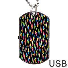 Skulls Bone Face Mask Triangle Rainbow Color Dog Tag Usb Flash (two Sides) by Mariart