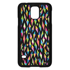 Skulls Bone Face Mask Triangle Rainbow Color Samsung Galaxy S5 Case (black) by Mariart