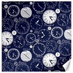 World Clocks Canvas 12  X 12   by Mariart