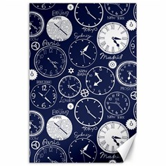 World Clocks Canvas 24  X 36  by Mariart