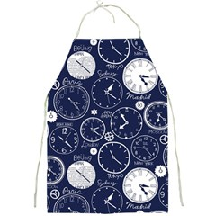World Clocks Full Print Aprons