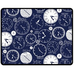 World Clocks Fleece Blanket (medium)  by Mariart
