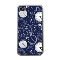 World Clocks Apple Iphone 4 Case (clear) by Mariart