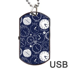 World Clocks Dog Tag Usb Flash (one Side)