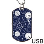 World Clocks Dog Tag USB Flash (One Side) Front
