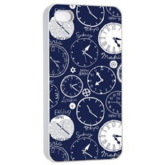 World Clocks Apple Iphone 4/4s Seamless Case (white) by Mariart