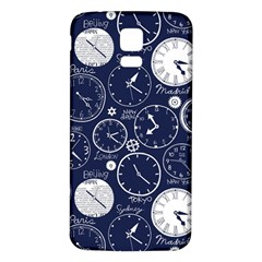 World Clocks Samsung Galaxy S5 Back Case (white) by Mariart