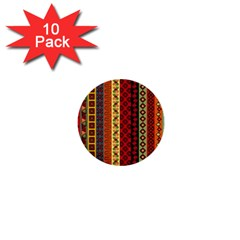 Tribal Grace Colorful 1  Mini Buttons (10 Pack)  by Mariart