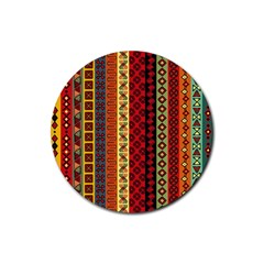 Tribal Grace Colorful Rubber Coaster (round)