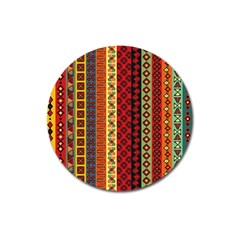 Tribal Grace Colorful Magnet 3  (round) by Mariart