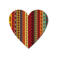 Tribal Grace Colorful Heart Magnet by Mariart
