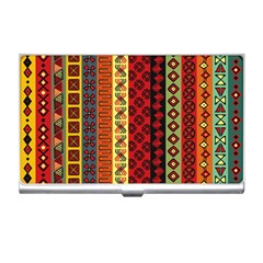 Tribal Grace Colorful Business Card Holders by Mariart