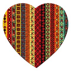Tribal Grace Colorful Jigsaw Puzzle (heart) by Mariart