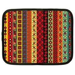 Tribal Grace Colorful Netbook Case (xl)  by Mariart