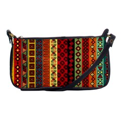 Tribal Grace Colorful Shoulder Clutch Bags by Mariart