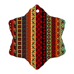 Tribal Grace Colorful Ornament (snowflake)