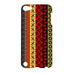 Tribal Grace Colorful Apple Ipod Touch 5 Hardshell Case by Mariart