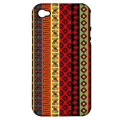 Tribal Grace Colorful Apple Iphone 4/4s Hardshell Case (pc+silicone) by Mariart