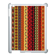 Tribal Grace Colorful Apple Ipad 3/4 Case (white) by Mariart