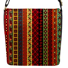 Tribal Grace Colorful Flap Messenger Bag (s) by Mariart