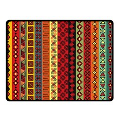 Tribal Grace Colorful Double Sided Fleece Blanket (small)  by Mariart