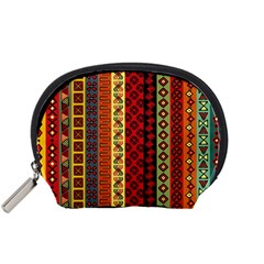 Tribal Grace Colorful Accessory Pouches (small)  by Mariart
