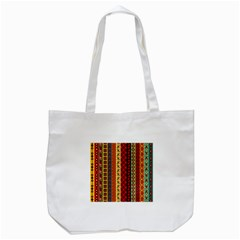 Tribal Grace Colorful Tote Bag (white)