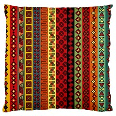Tribal Grace Colorful Large Flano Cushion Case (one Side) by Mariart