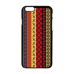 Tribal Grace Colorful Apple Iphone 6/6s Black Enamel Case by Mariart