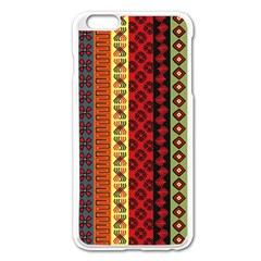 Tribal Grace Colorful Apple Iphone 6 Plus/6s Plus Enamel White Case by Mariart