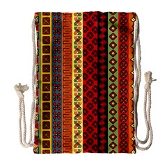Tribal Grace Colorful Drawstring Bag (large) by Mariart