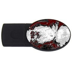 Abstraction Usb Flash Drive Oval (2 Gb) by Valentinaart