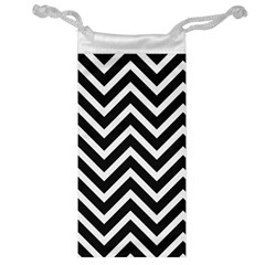 Zigzag Pattern Jewelry Bag by Valentinaart